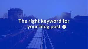 keyword for blog post
