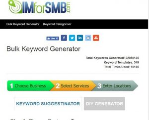 Tool Bulk Keyword Generator